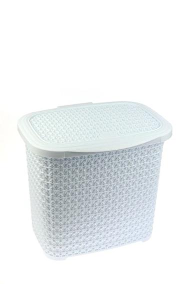 Arma House Örgü Desenli Beyaz Rengi Plastik Deterjan Kutusu 10 Lt Beyaz